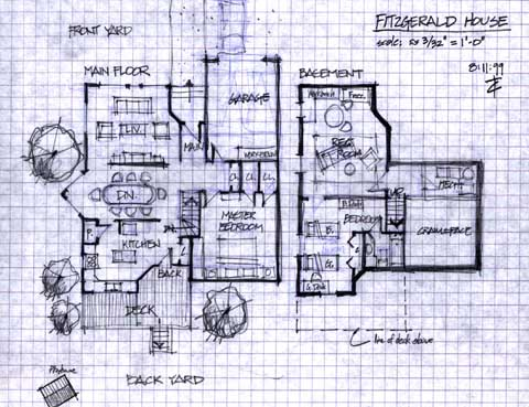 Asylum Design Works Production Design Portfolio Ginger Snaps Fitzgerald House Plans Early